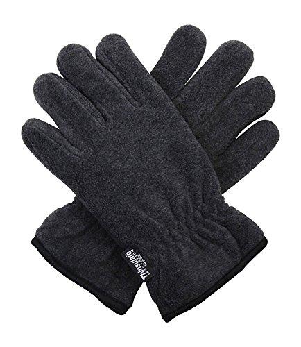 - Dark Grey 40g Thermal Insulation Polar Fleece Winter Gloves - One Size Fits All