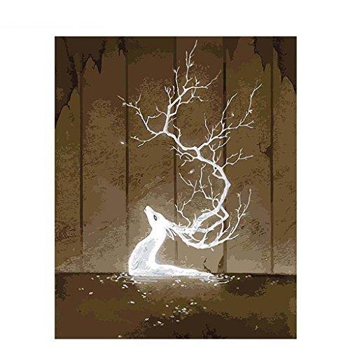 油絵 数字キット 手塗り デジタル油絵 DIY絵 数字油絵 数字キットによる 子供の塗り絵 家の装飾のギフト イルー・シングーイ 40*50CMの商品画像