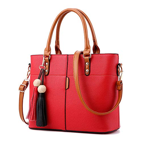 Londony Fashion Bag, Womens Handbags and Purses Handbags Ladies Shoulder Bags Designer Satchel Tote Bag Wine