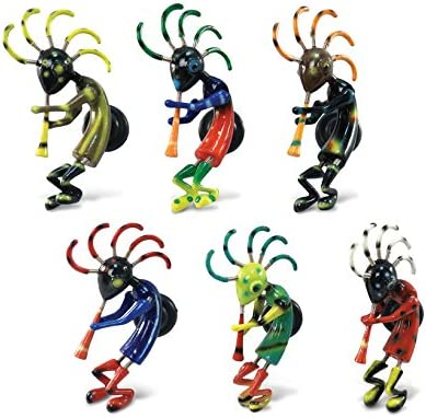 Amazon Com Cota Global Kokopelli Refrigerator Bobble Magnets Set Of 6 Assorted Color Fun Cute Native American Bobble Head Magnets For Kitchen Fridge Home Decor Cool Office Decorative Novelty 6 Pack