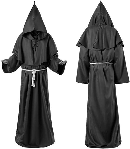 Disfraz De Parca De Terror Para Hombre Monje Vintage Capa De ...
