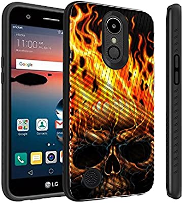 Untouchble Case LG K30, LG Harmony 2, Phoenix Plus, Premier Pro LTE (2018)  Case [Stripe Force] Shockproof Premium TPU Inner Skin Layer with Hard