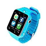 gps for location - Kids GPS Smart Watch Safe Anti-Lost Monitor Waterproof Watches With Camera/Facebook SOS Call Location Device Tracker (Blue)
