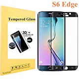 Galaxy S6 Edge Screen Protector [Full Coverage], Tempered Glass 9H 0.2mm Thinest Protection Armor Guard Shatterproof Fingerprint-free Bubble free Film for Samsung Galaxy S6 Edge (Black)