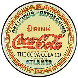 Tin Sign Coke - Round Keg Label by DHD
