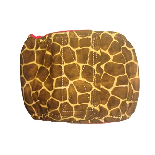 Male Dog Diaper - Made in USA - Giraffe Washable Belly Band Male Wrap, M for Territorial Marking, Excitable Peeing and Urinary - Giraffe Mali