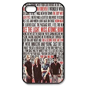 Qxhu The Killers patterns Protective Hard Back Fits Cover Case for Iphone4,4S