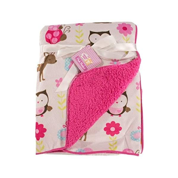 Snugly Baby Deluxe Sherpa Plush Blanket (Pink)