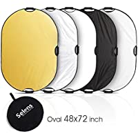 Selens 5-in-1 48x72 Inch Oval Reflector with Handle for Photography Photo Studio Lighting & Outdoor Lighting