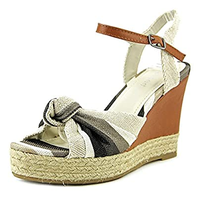 Bamboo Lexi-45 Women's Knotted Open Toe Wedge Sandal