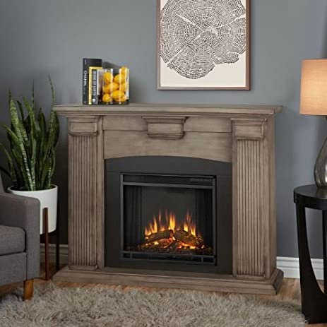 Amazon.com: Adelaide Indoor Electric Fireplace, Dry Bush White: Home ...