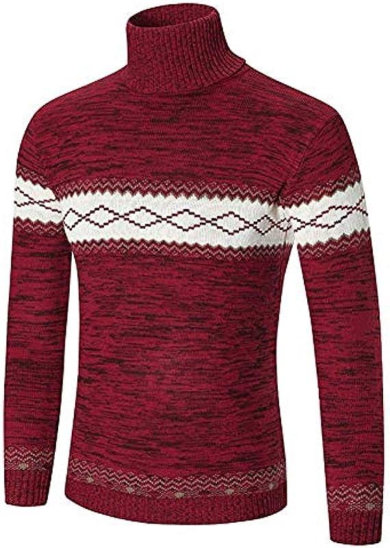 Męska bluza z wysoką zawartością bawełny sweter Jumpers Top sweter z dzianiny Fashion Wygodne rozmiary Casual Ciepły długi rękaw Nadruk Sweter z rolkowym kołnierzem Sweter z dziani