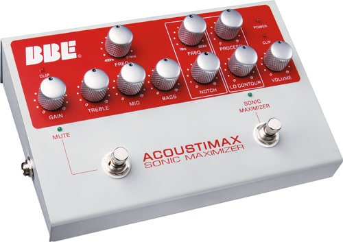 BBE Acoustimax Acoustic Instrument Preamp Pedal with Full Featured Sonic Maximizer by BBE Sound