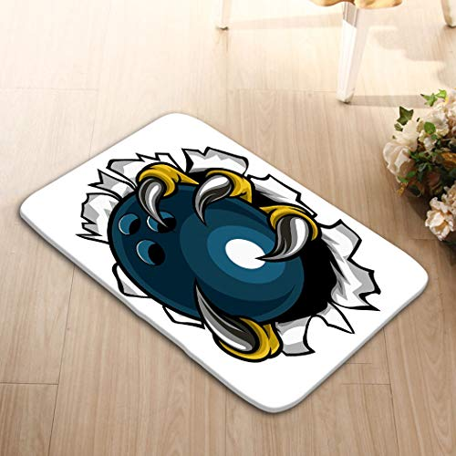 zexuandiy Mats Vintage Fashion Washable Fabric Placemats for Dining Room Kitchen Table Decoration 23.6(L) x 15.7(W) Bowling Ball Eagle Claw Talons Tearing Eagle Bird mon