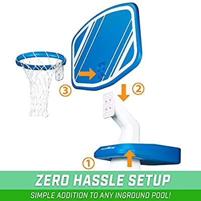 GoSports Splash Hoop PRO Pool Basketball Game, Includes Poolside Water Basketball Hoop, 2 Balls and Pump : Sports & Outdoors