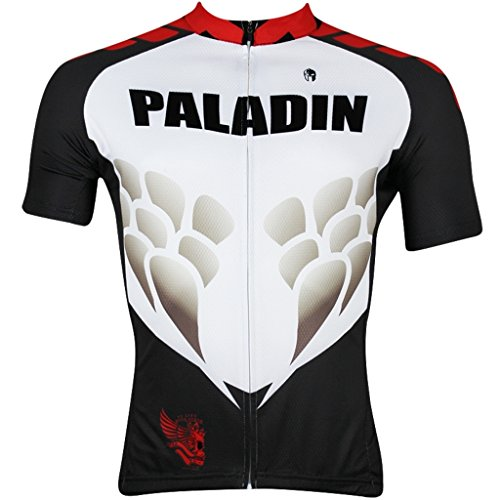Paladinsport Men's Dragon Scale Black Polyester Short Sleeve Cycling Clothing Size -
