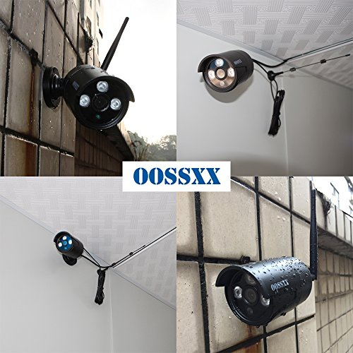 Outdoor 960P Security Camera,OOSSXX IP67 Waterproof WiFi Camera,Wireless Surveillance Camera with Night Vision