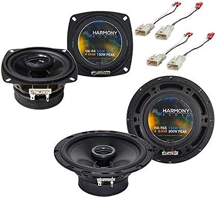 Altavoz coaxial 440 W, 16,5 cm, X165, incluye set de instalaci/ón para Toyota Corolla E12 01//2002-02//2007 Hertz