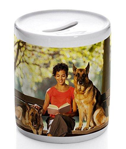 OyC Hucha Personalizada, con Foto, Regalo Original, cerámica, económico, Ahorrar 4