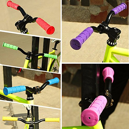 Yayoshow 2 pcs Bike Handlebar Grips Comfortable Rubber Bike Handlebar With 10 Colors
