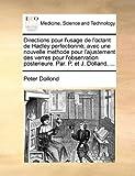Directions Pour L'Usage de L'Octant de Hadley Perfectionné; Avec une Nouvelle Methode Pour L'Ajustement des Verres Pour L'Observation Posterieure Par, Peter Dollond, 1170140661