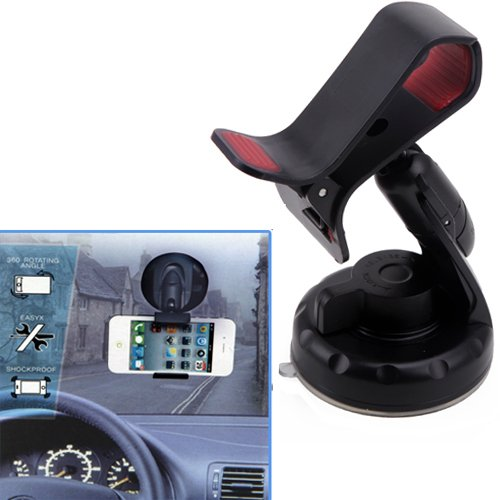 HDE Universal Dashboard Windshield Suction Mount Holder for GPS or Smartphone - Free Arkon Vent Mount
