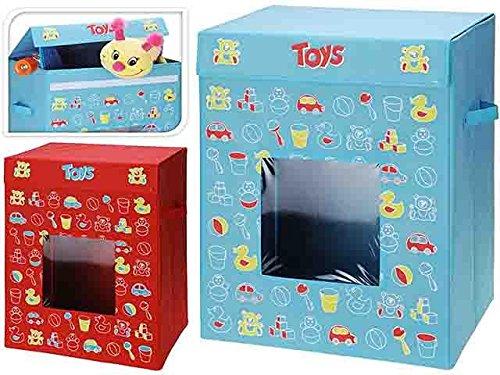 Portagiochi Pieghevole Toys con Coperchio Contenitore Giochi Cameretta Bambini KOOPMAN INTERNATIONAL B.V.
