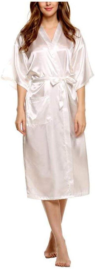 Mujer Kimono Elegantes Moda Batas Sólido Color Ocasional ...