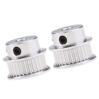 FLAMEER 2 piezas Polea GT2 30 dientes de repuesto para polea ...