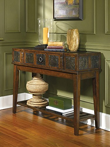 Ashley Furniture Signature Design - McKenna Sofa Table - Rectangular - Dark Brown (Long Entry Table)