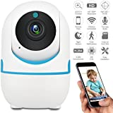 DEFEWAY 1080P Wireless IP Camera,Home Wifi Security Surveillance Camera for Baby/Elder/Pet/Nanny Monitor,Pan/Tilt, Two-Way Audio E1W (White)