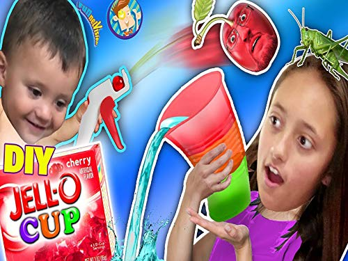 Do It Yourself Jello Cups! Edible Glasses Kids Recipe! Cherry Pit Fruit Launcher!