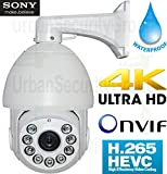 USG Business Grade H.265 2592×1944 5MP @ 30FPS IP PTZ Speed Dome Security Camera : Sony IMX178 Chip, 36x Optical Zoom 4.5-162mm HD + Auto-Focus Lens, 9X IR LEDs, ONVIF 2.4, IP66 Weatherproof
