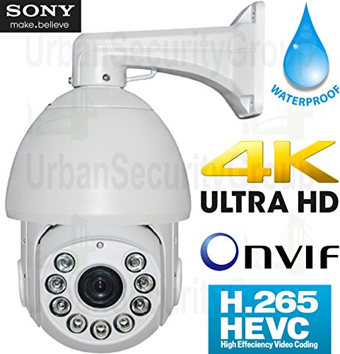 USG Business Grade H.265 5MP@30FPS IP PTZ Speed Dome Security Camera Sony DSP, 36x 4.5-162mm Remote Zoom + Auto-Focus Lens, 9x IR LEDs, ONVIF 2.4, IP66 Weatherproof Apple Android Phone Viewing by Urban Security Group
