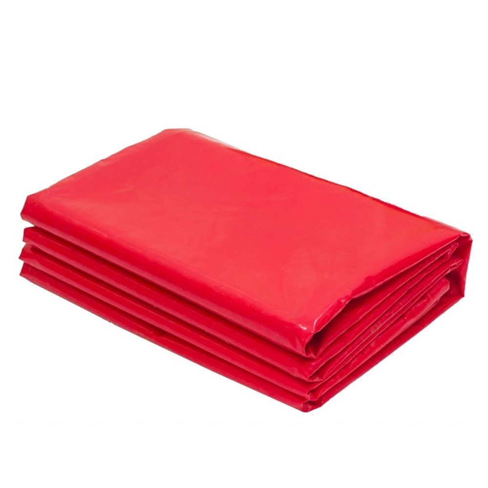 PJ Zelt Wasserdichtes Tuch Super Polyester Tarp Cover - Dicke Wasserfeste, UV-Beständig, Rot, Rip und Tear Proof Plane mit Ösen und Verstärkten Kanten 180g m2 Es ist Weit verbreitet