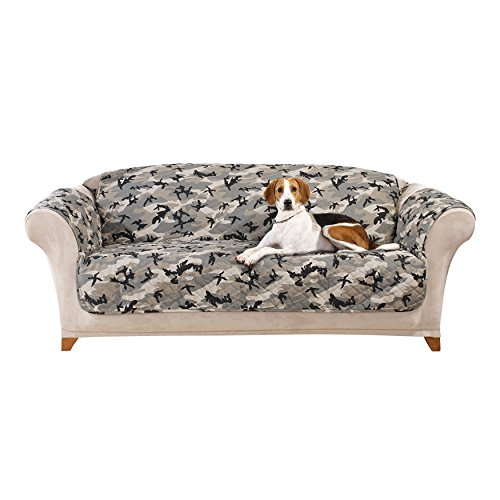 sure fit camouflage pet sofa slipcover gray sf43711
