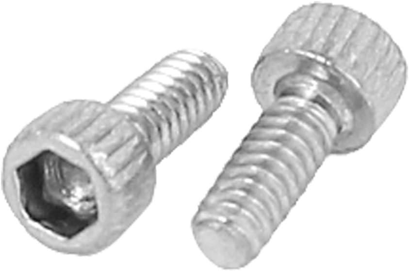 M1.6x4mm 0.35mm Pitch Hex Key Socket Head Cap Screw Bolts 100pcs uxcell a15040700ux0216