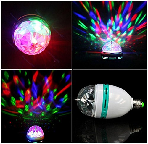 E27 3w Colorful Rotating Stage Rgb Led Light Bulb Bright Party Disco Club Lamp Auto Crystal Color Ball Dj Magic Xmas 85-260v Range Life 2000 Hours Brand New