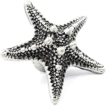LBFEEL Seaside Beach Theme Style Antique Starfish Knob Kitchen Drawer  Cabinet Beach Decor Pull Handle Hardware