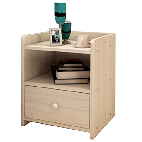 Amazon.com: LLDMZ Wooden Bedside Tables Side Tables Storage ...