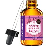 Coffee Eye Lift Serum by Leven Rose Pure, Organic, Natural Reduces Puffiness, Anti Aging, Brightens...