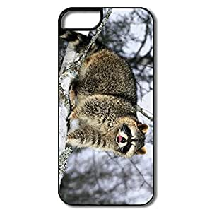 IPhone 5 Cases, Raccoon Cover For IPhone 5 5S - White/black Hard Plastic Kimberly Kurzendoerfer