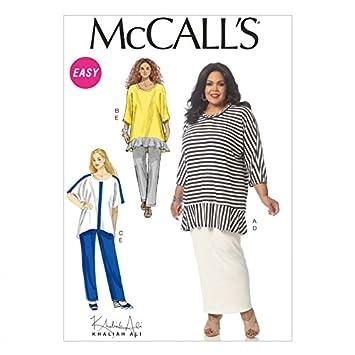Unbekannt McCalls Damen Übergröße Easy Schnittmuster 7134 Tunika ...
