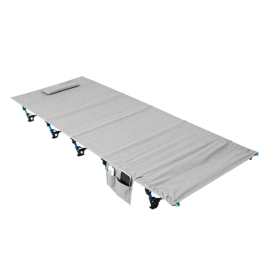 Luufan Ultraleicht Klapp Camping Bett Tragbare Campingbett mit Tragetasche, Camping Liege Kinderbett Ersatz Aluminiumlegierung für Indoor Outdoor Reise Wandern Jagd (190  70 cm)