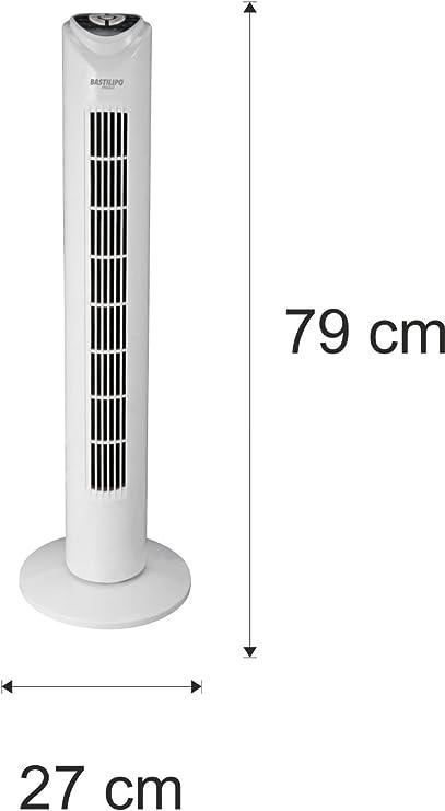 Bastilipo Cala Salada Ventilador de Torre con Mando a Distancia ...