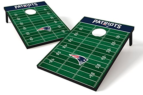 - Wild Sports NFL Tailgate Size Cornhole Set, New England Patriots, Two 2' x 3' Boards and 8 Bags