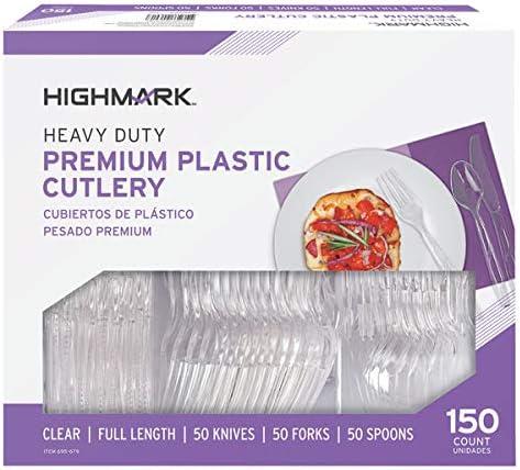 Clear 11595 Pack of 150 Highmark Office Depot Full Length Utensils