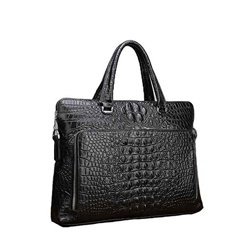Crocodile Laptop Shoulder Tubackpack Messenger Genuine Black Formal Leather Briefcase For Men1021 Bag w80PnNOkX