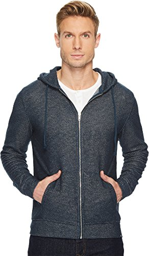 Threads 4 Thought Men's Loop Terry Zip Hoodie Reflecting Pond Large