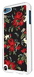 496 - Floral Shabby Chic Vintage Roses Fleurs Design For apple ipod Touch 5 Fashion Trend CASE Back COVER Plastic&Thin Metal